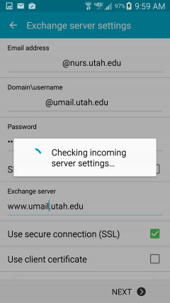 Setup Umail on Android - College of Nursing - Office of